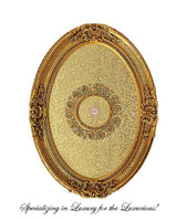 "Architectural Accents Crosshatch & Flourish Pattern, 6730 Oval Ceiling Medallion, 3'7""L X 2'8""w X 3.5"" Thick"