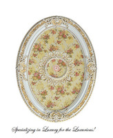 "Architectural Accents Beautiful Floral Pattern, 6731 Oval Ceiling Medallion, 3'7.25""L X 2'7.5""w X 3.5"" Thick"
