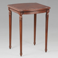 The Queen of France Marie Antoinette - French Neo Classical Period Louis XVI - 28.25 Inch Handcrafted Reproduction Versailles End   Side   Lamp Table - Wood Tone Luxurie Furniture Finish NWND
