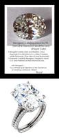 9.32Ct. Oval Shape Benzgem: Best G-H-I-J Diamond Quality Imitation: GuyDesign® Louis XIV Baroque Scroll Engagement Ring: Natural Pavé Diamonds Custom 18 Karat White Gold Jewelry, 6614