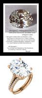 9.32Ct. Oval Shape Benzgem: Best G-H-I-J Diamond Quality Imitation: GuyDesign® Louis XIV Baroque Scroll Engagement Ring: Natural Pavé Diamonds Custom 18 Karat Rose Gold Jewelry, 6616