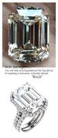 Halo Engagement Rings, Emerald Cut Engagement Rings, Diamond Semi-Mount, White Gold, Simulated Diamond, Mine Diamond, Wedding Sets, 6632