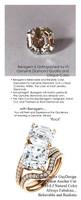 7.00 Benzgem by GuyDesign® Luxury 07.00 Carat Square Asscher Fantasy Diamonds Natural Diamond Semi-Mount, White, Faintest Yellow Tint, G-H-I-J, Best Artificial Diamond, Classic Bypass Double Solitaire Engagement Ring, 18 Karat Rose Gold, 6645