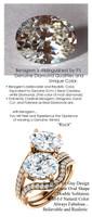 6.00 Benzgem by GuyDesign® Luxury 06.00 Carat Oval Shape Fantasy Diamonds Natural Diamond Semi-Mount, White, Faintest Yellow Tint, G-H-I-J, Best Artificial Diamond, Classic Bypass Double Solitaire Engagement Ring, 18 Karat Rose Gold, 6647