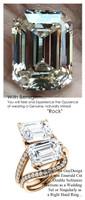 Emerald Cut Engagement Rings, Rose Gold, Wedding Rings, Simulated Diamond, Diamonds, Wedding Sets, 6649
