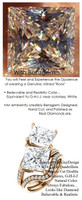 3.81 Benzgem by GuyDesign® White, Faintest Yellow Tint, G-H-I-J, Best Artificial Diamond, Classic Bypass Double Solitaire Engagement Ring, Luxurious 08.24 Carat Princess Cut Fantasy Diamonds Natural Diamond Semi-Mount, 18 Karat Rose Gold, 6650