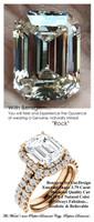 Halo Engagement Rings, Asscher Cut Engagement Ring, Diamond Semi-Mount, Rose Gold, Simulated Diamond, Mine Diamond, Wedding Sets, 6664