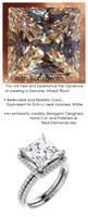 Halo Engagement Rings, Princess Cut Engagement Rings, Diamond Semi-Mount, Platinum, Simulated Diamond, Natural Diamond, Wedding Sets, 6695