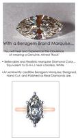 5.08 Benzgem by GuyDesign®, Most Believable fake Diamond in the World, Custom 05.08 Carat Marquise Cut Dream Diamond, Classic Tiffany Solitaire Ring, 18 Karat Rose & Platinum, 6702