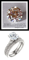 1.91 Benzgem by GuyDesign®, 01.91 Carat Hearts & Arrows Round Shape Jewelry Sample, Size 7, Tarnish Resistant Silver 6703-123063