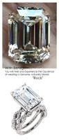 Emerald Cut Engagement Rings, White Gold, Wedding Rings, Simulated Diamond, Diamonds, Bill Blass, Wedding Sets, 6763