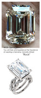 Emerald Cut Engagement Rings, White Gold, Wedding Rings, Simulated Diamond, Diamonds, Bill Blass, Wedding Sets, 6764