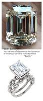 Emerald Cut Engagement Rings, White Gold, Wedding Rings, Simulated Diamond, Bill Blass, Wedding Sets, 6767