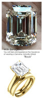 Emerald Cut Engagement Rings, Yellow Gold, Wedding Rings, Simulated Diamond, Wedding Sets, 6783
