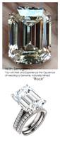 Emerald Cut Engagement Rings, White Gold, Wedding Rings, Simulated Diamond, Diamonds, Wedding Sets, 6786