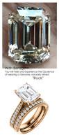 Emerald Cut Engagement Rings, Rose Gold, Wedding Rings, Simulated Diamond, Diamonds, Wedding Sets, 6788