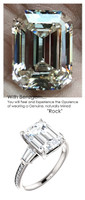 Emerald Cut Engagement Rings, White Gold, Wedding Rings, Simulated Diamond, Diamonds, Wedding Sets, 6791
