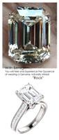 Emerald Cut Engagement Rings, White Gold, Wedding Rings, Simulated Diamond, Diamonds, Wedding Sets, 6797