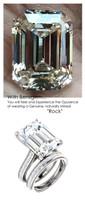 Emerald Cut Engagement Rings, White Gold, Wedding Rings, Simulated Diamond, Diamonds, Wedding Sets, 6799