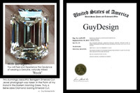 3.95 Benzgem by GuyDesign® Most Believable and Realistic 3.95 Ct. Emerald Cut... Designed, Hand Cut, and Polished as Real Diamonds are...