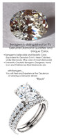 2.66 Benzgem by GuyDesign® Unforgettable, Most Believable, Original G-H-I-J Color 02.66 Ct. Oval Hand Cut Diamond Copy, Mined Diamond Semi G-H Color VS Clarity, Custom 14k White Gold Jewelry 3/4 Eternity Solitaire Ring 6840