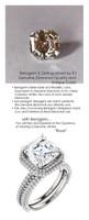 Halo Engagement Rings, Asscher Cut Engagement Ring, Diamond Semi-Mount, White Gold, Simulated Diamond, Mine Diamond, Wedding Sets, 6903