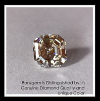 4.50 Benzgem by GuyDesign® Most Believable and Realistic 4.50 Ct. Asscher Cut... Designed, Hand Cut, and Polished as Real Diamonds are.