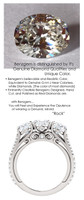1.19 Anniversary Ring by GuyDesign®, 01.19 Carats x 3 Hand Cut Oval Shape G-H Color Excellent Diamond Quality Benzgem Diamond Simulant, Custom White Gold Jewelry 6936