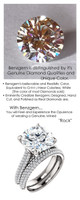 5.00 Micro Pavé Mined Diamond Engagement Ring by GuyDesign®, 5 Carat Hand Cut Hearts & Arrows Round Shape G-H Color Excellent Diamond Quality Benzgem Diamond Replica, Custom Jewelry 6963