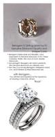 4.50 Brilliant Asscher Diamond Cut, Best Diamond Copy in the World, 04.50, G-H Natural Color. Diamond Semi-Mount G+ Color - VS Clarity, Platinum Simply Elegant Engagement Ring 6981, Benzgem by GuyDesign®