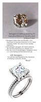 4.00 All G+, VS Diamond, Platinum Engagement Ring by GuyDesign®, 4 Carat Asscher Shape Benzgem Alternative Solitaire, Custom Jewellery 6995