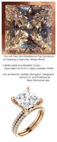 4.00 All G+, VS Diamond, 18k Rose Gold Engagement Ring by GuyDesign®, 4 Carat Princess Shape Benzgem Best Alternative Solitaire, Custom Jewellery 6704
