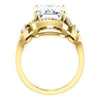14.22 Ct. Mined Diamond Semi Mount and Gold Ring, Benzgem by GuyDesign® Enormous Emerald Cut Diamond Copy 7072