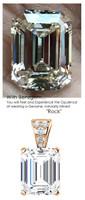 5.50 Ct. Brilliant Emerald Cut Benzgem: Best G-H-I-J Diamond Quality Color Imitation; GuyDesign® Mined Diamond Encrusted Pendant Necklace: Fine Gold Custom Jewelry - 7090