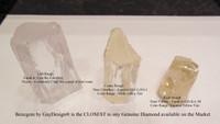 Benzgem by GuyDesign® Illusion Bracelet, 11.20 Carats of G-H-I-J Color, 0.35 Carat Hearts & Arrows Round Imitation Diamonds, 14k White Gold, 7115