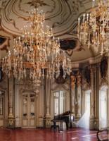 "European Ballroom Chandelier in Gilt Bronze Ormolu, Hand Blown Crystal Glass - 179""t X 118""dia. or 15't x 9.84'dia. - 96 Lights with 24 Karat Gold Finish, 6982"