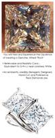 3.81 Benzgem by GuyDesign® 7.62 Carats Quadrillion Princess Fantasy Diamond, Diamond White, Cream Tint, G-H-I-J Color, Most Believable Fake Diamond, Ever & Ever Ring, Platinum, 6701