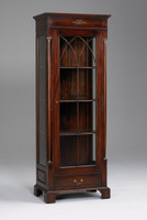 French Empire Style - 74 Inch Reproduction Display Cabinet | Curio - Rich Wood Luxurie Furniture Finish