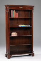 French Empire Style - 73 Inch Reproduction Bookcase - Rich Wood Luxurie Furniture Finish