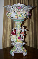 Meissen Style Table Top - 20 Inch Porcelain Compote