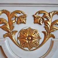 Fine Handcrafted Period Furniture - Painted Luxurie Furniture Finish GJWI White with Gold