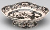 Black and White Pattern - Luxury Transferware Porcelain - 8.25 Inch Bowl