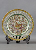 Heavenly Putti Pattern - Luxury Hand Painted Porcelain - 10 Inch Plate