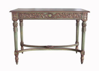 Custom Decorator - Rectangular Hardwood 42 Inch Hall | Console Table - Hand Carved