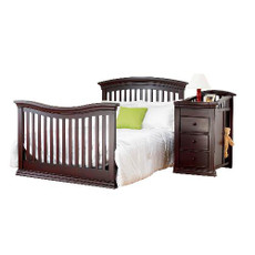 Sorelle Verona Crib & Changer Adult Bed Espresso