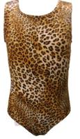 Girls Gymnastics Leotards: brown, leopard, velvet