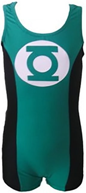 Boys Gymnastics Leotard: green, black