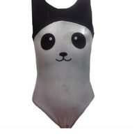 Girls Gymnastics Leotards: panda, black, white