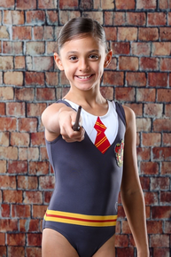 Price Drop! WIZARD WORLD GRYFFINDOR Inspired Breathtaking Girls' Gymnastics Leotard. Free Scrunchie!