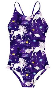 New! UNICORN GALAXY Dazzling Girls' One-Piece Swimsuit.